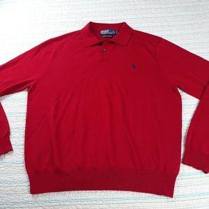 Polo Ralph Lauren L Red Merino Wool Sweater
